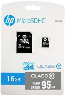 Best price on HP 16GB MicroSDHC Class 10(95MB/s) Memory Card (With Adapter) in India