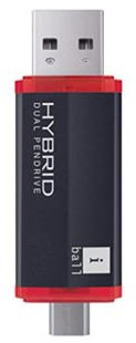 Best price on iball Hybrid Dual Standard 16GB USB Interface Pendrive in India