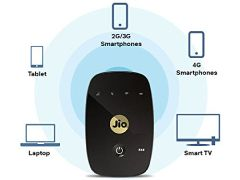 Best price on RelianceJio Fi M2 150Mbps Data Card Wireless Router - Side in India