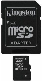 Best price on Kingston 4GB MicroSDHC Class 10 (10MB/s) UHS-1 Memory Card (With Adapter) in India