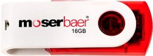 Best price on Moserbaer Swivel 16GB Pen Drive - Back in India