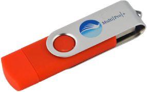 MultiPro Plus MPRED64 64GB USB2.0 OTG Pen Drive