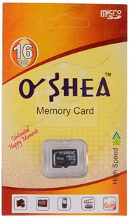 Best price on Oshea 16GB MicroSDHC Class 4 Memory Card in India