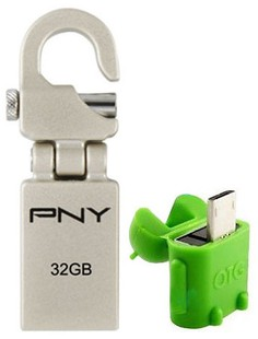 Best price on PNY Mini Hook Attache 32GB OTG Pen Drive in India