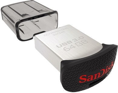 Best price on Sandisk Ultra Fit SDCZ43 USB 3.0 64GB Pen Drive in India