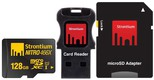 Best price on Strontium Nitro 128Gb Class 10 MicroSDHC UHS-1 (With Card reader & MicroSD Adapter) - Front in India