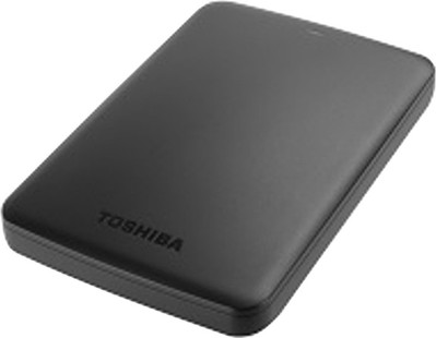 Best price on Toshiba Canvio Basic HDTB310EK3AA 2.5 Inch 1TB External Hard Disk in India
