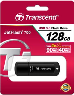 Best price on Transcend JetFlash 700/730 128GB USB 3.0 Pen Drive in India