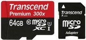Transcend Premium 300X 64GB MicroSDXC Class 10 Memory Card (With Adapter)