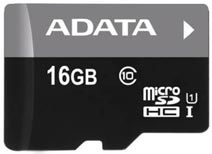 Best price on AData 16GB MicroSDHC Class 10 Memory Card in India