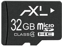 Best price on Axl 32GB MicroSDHC Class 4 Memory Card in India