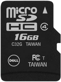 Best price on Dell 16GB MicroSDHC Class 4 Memory Card in India