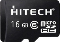 Best price on Hitech 16GB MicroSDHC Class 6 Memory Card in India