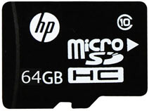 Best price on HP 64GB MicroSDHC Class 10 (90MB/s) Memory Card in India