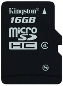 Best price on Kingston 16GB MicroSDHC Class 4 (4MB/s) Memory Card in India