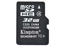 Best price on Kingston 32GB MicroSDHC Class 4 Memory Card in India