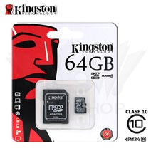 Best price on Kingston 64GB MicroSDHC Class 10 (80MB/s) Memory Card (With Adapter) in India