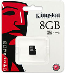 Best price on Kingston 8GB MicroSDHC Class 4 (13MB/s) Memory Card in India