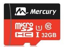 Best price on Mercury Ultra 32GB MicroSDHC Class 10 (70MB/s) Memory Card in India