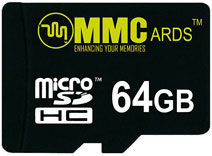 Best price on MMCards 64GB MicroSDHC Memory Card in India
