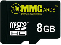 Best price on MMCards 8GB MicroSDHC Memory Card in India