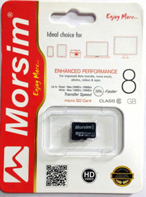 Best price on Morsim 8GB MicroSD Class 6 (48MB/s) Memory Card in India