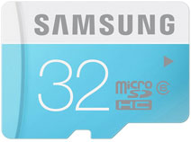 Best price on Samsung 32GB MicroSDHC Class 6 (24MB/s) Memory Card in India