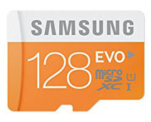 Best price on Samsung EVO 128GB MicroSDXC Class 10 (48MB/s) Memory Card in India