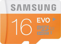 Best price on Samsung Evo 16GB MicroSDHC Class 10 (48MB/s) Memory Card in India
