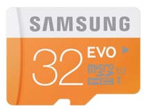 Best price on Samsung EVO 32GB MicroSDHC Class 10 (48MB/s) Memory Card (With Adapter) in India
