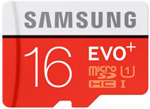 Best price on Samsung EVO Plus 16GB MicroSDHC Class 10 UHS-1 Memory Card in India