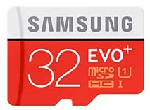 Best price on Samsung Evo Plus MB-MC32D 32GB MicroSDHC Class 10 (80MB/s) Memory Card (With Adapter) in India