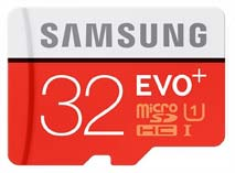Best price on Samsung EVO Plus 32GB MicroSDHC Class 10 (80MB/s) Memory Card in India