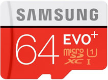Best price on Samsung Evo Plus 64GB MicroSDXC Class 10 (80MB/s) Memory Card in India