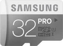 Best price on Samsung PRO 32GB MicroSDHC Class 10 (80MB/s) UHS-1 Memory Card in India