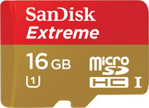 Best price on SanDisk Extreme 16GB MicroSDHC Class 10 (45MB/s) UHS-1/U1 Memory Card in India