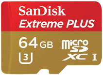 SanDisk Extreme 64GB MicroSDXC Class 10 (UHS-I/U3) Memory Card (With Adapter)