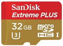 Best price on SanDisk Extreme Plus 32GB UHS-I/U3 (80MB/s) MicroSDHC Memory Card (With Adapter) in India