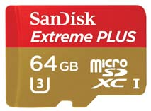 Best price on SanDisk Extreme Plus 64GB MicroSDXC UHS-I/ U3 (80MB/s) Memory Card (With Adapter) in India