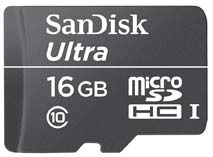 Best price on SanDisk Ultra 16GB MicroSDHC Class10 (30MB/s) UHS-1 Memory Card in India