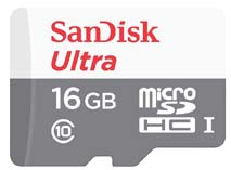 Best price on SanDisk Ultra 16GB MicroSDHC Class 10 (48MB/s) UHS-1 Memory Card in India