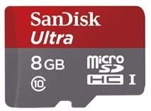 Best price on SanDisk Ultra 8GB MicroSDHC Class 10 (48MB/s) UHS-1 Memory Card (With Adapter) in India