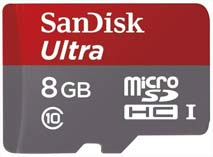 Best price on SanDisk Ultra 8GB MicroSDHC Class 10 (48MB/s) Memory Card in India
