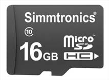 Best price on Simmtronics Ultra 16GB MicroSDHC Class 10 (70MB/s) Memory Card in India