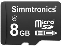 Best price on Simmtronics Ultra 8GB MicroSDHC Class 4 (70MB/s) Memory Card in India