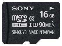 Best price on Sony 16GB MicroSDHC Class 10 UHS-I (90MB/s) Memory Card (Adapter) in India