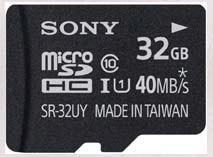 Best price on Sony 32GB MicroSDHC Class 10 (40MB/s) Memory Card in India