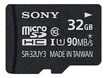 Best price on Sony 32GB MicroSDHC Class 10 (90MB/s) UHS-I Memory Card (With Adapter) in India