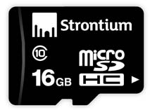 Best price on Strontium 16GB MicroSDHC Class 10 (10MB/s) Memory Card in India