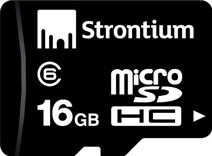 Best price on Strontium 16GB MicroSDHC Class 6 Memory Card in India